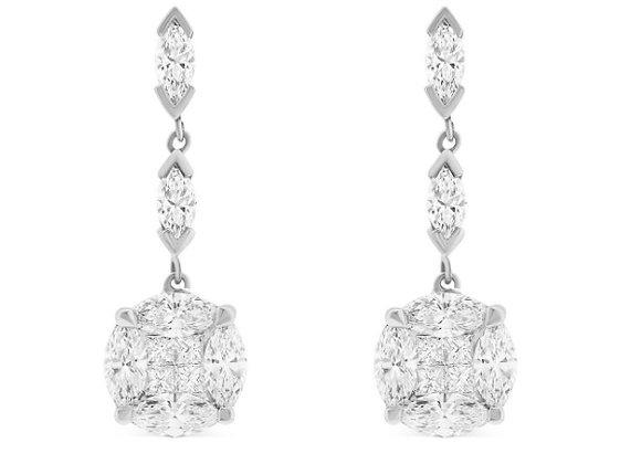 5.80ct Diamond Drop Earrings