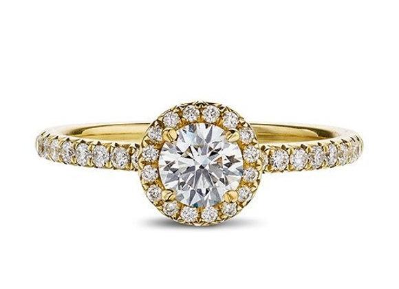 Round Cut Diamond Halo Ring