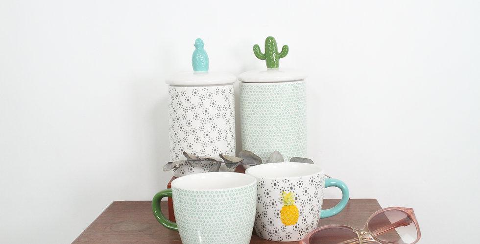 Pot hermétique - cactus ou ananas