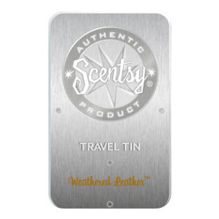 Weathered Leather Scentsy Travel Tin