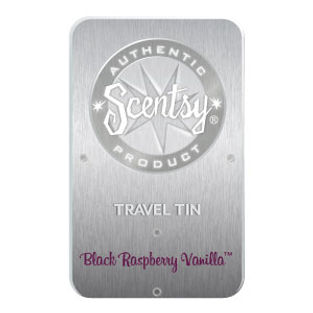 Black Raspberry Vanilla Scentsy Travel Tin