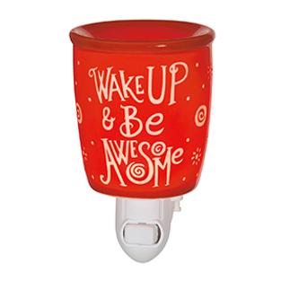 Wake Up And Be Awesome Scentsy Mini Warmer