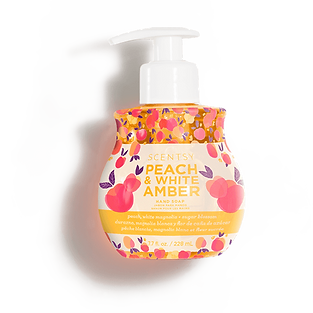 Peach and White Amber Scentsy Hand Soap