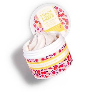 Peach and White Amber Scentsy Body Souffle