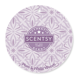 Plum and White Woods Scent Circle