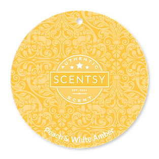 Peach and White Amber Scent Circle