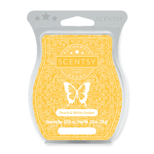 Peach And White Amber Scentsy Bar