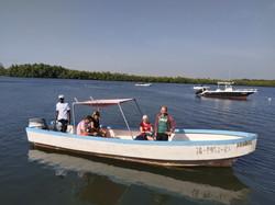 pêche de la carpe rouge en bolong de Casamance