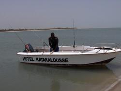 pêche en bateau au Sénégal