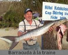 Pêcher le Barracuda a cap skirring