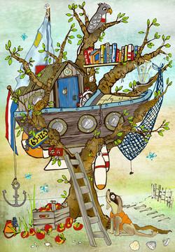 tree-boat-house