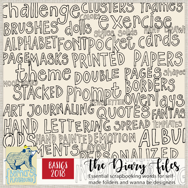 Scrapbooking words and prompts