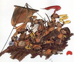 From 'De grote trek van de stokstaartjes' by Berna