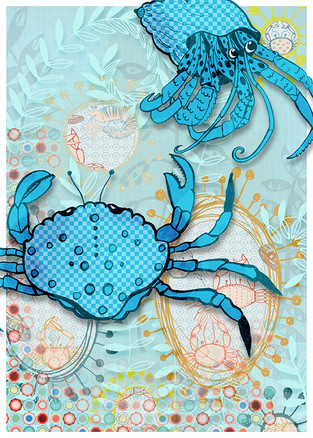 Wall art 'Crustaceans 1'