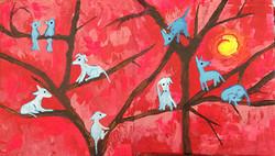 blue dogs belong in trees