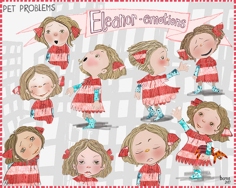 Emotions for children's book illustration
