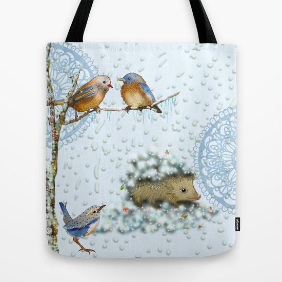 Winter shopping bag