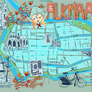 Map Alkmaar-Netherlands