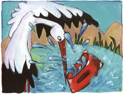The stork and the thing
