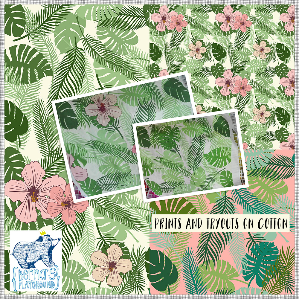 Hibiscus print for cotton