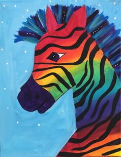 Rainbow_Zebra Kids Painting 6 for Galler