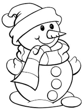 Predrawn Snowman