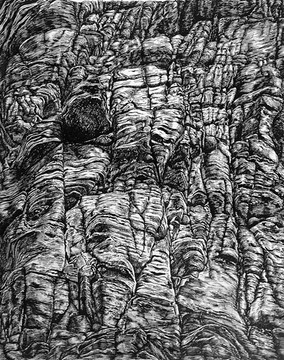 Eroded cliff, Collioure, 2012