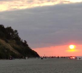2.Zachód słońca w Jastrzębiej Górze z wi