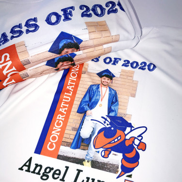Personal printed graduation shirt