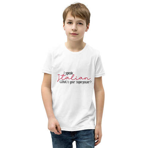 I Speak Italian Youth Short Sleeve