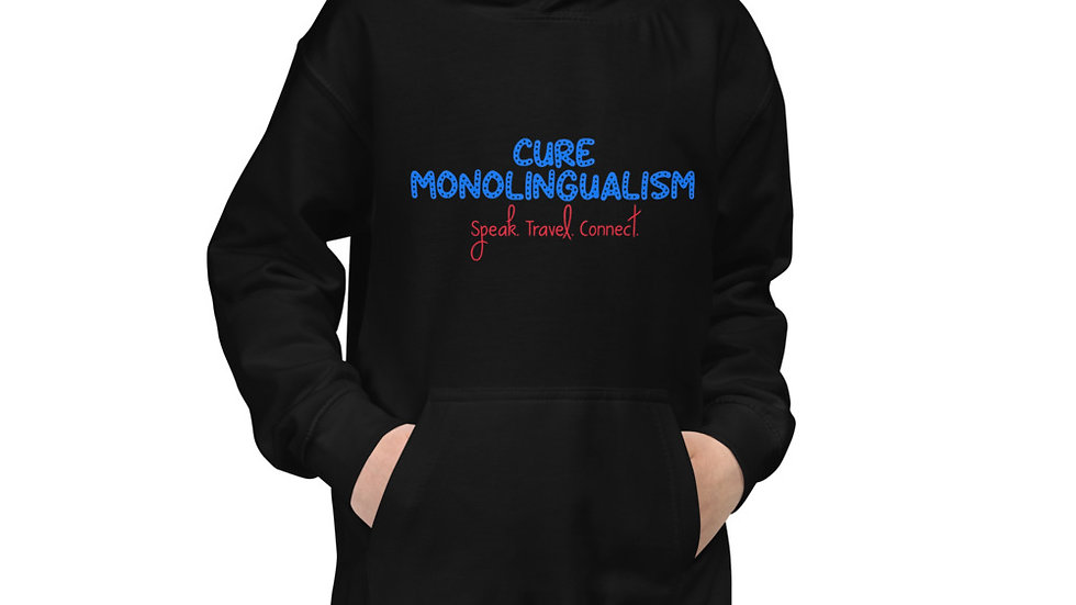 Cure Monolingualism Kids Hoodie