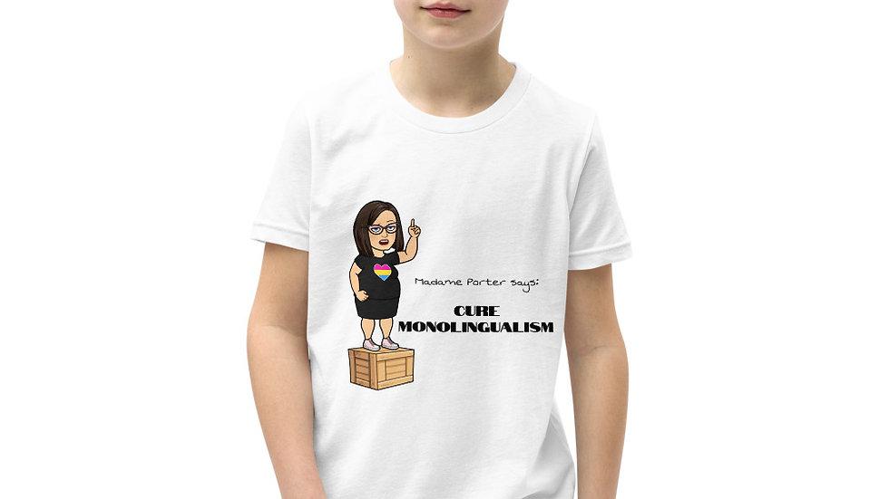 Cure Monolingualism Youth Short Sleeve T-Shirt