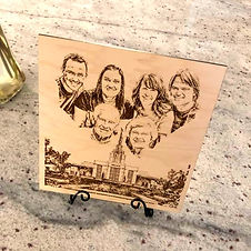 Family Square Engraving