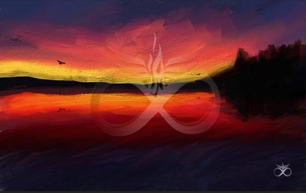 Dark Sunrise: Stretched Canvas