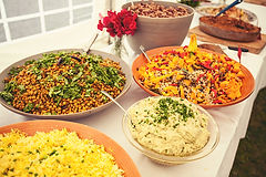 Fivepenny Catering provides seasonal salads in a riot of colours