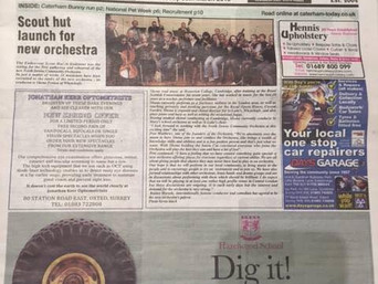 Launch of the North Downs Community Orchestra attracts extensive press coverage
