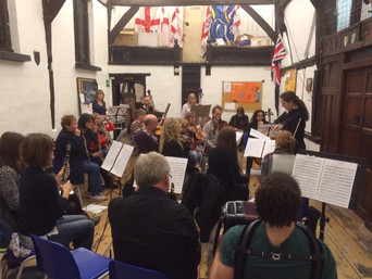 Hello World. The inaugural rehearsal of the North Downs Community Orchestra