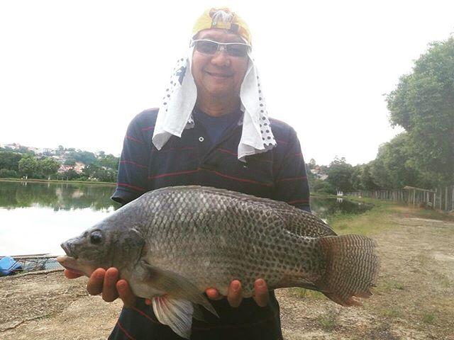 Pescador_ Sergio _Isca_ ração furadinha