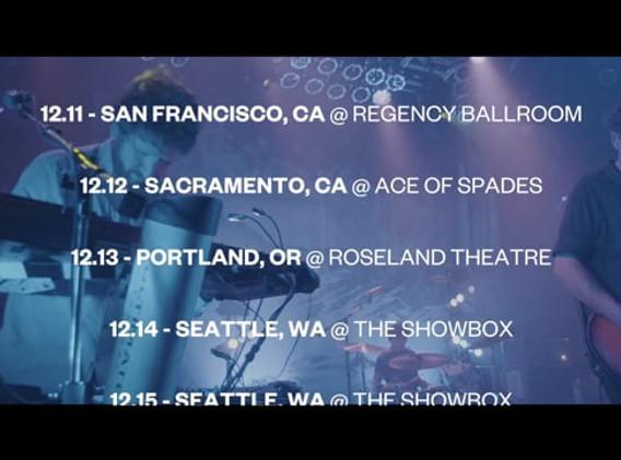 Tour Announcement Video