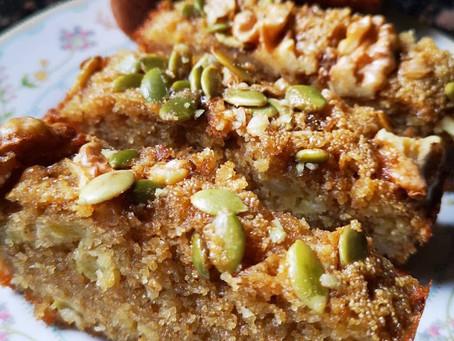 Semolina Banana Walnut Cake