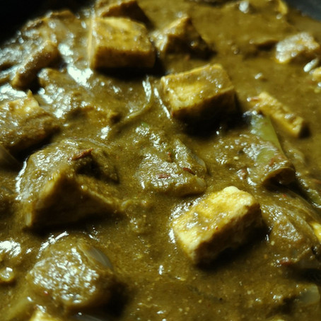 Palak Paneer - Spinach Indian Cottage Cheese Recipe