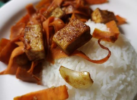 Pan-fried Honey-Garlic Tofu