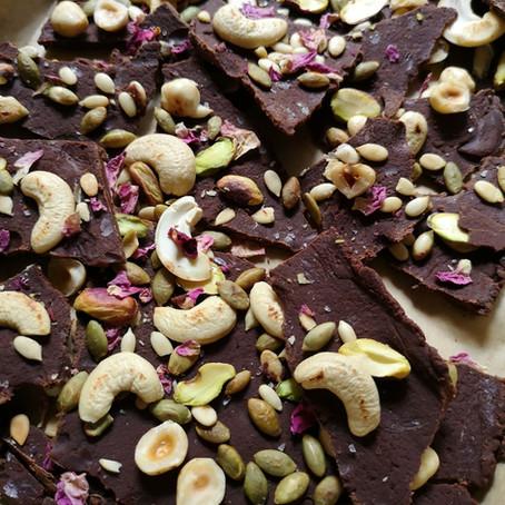 Chocolate Hazelnut Pistachio Barks
