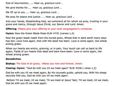Worship Bulletin for Sunday, May 3, 2020 Fourth Sunday of Easter