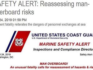 PROFESSIONAL MARINER / WEB-BULLETIN April 24, 2019 / SAFETY ALERT: REASSESSING MAN-OVERBOARD RISKS