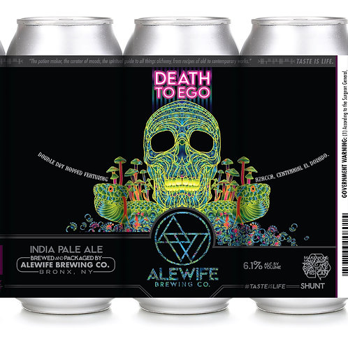 DDH Death To Ego IPA - 6.1% - Hazy IPA - 16oz cans - Case