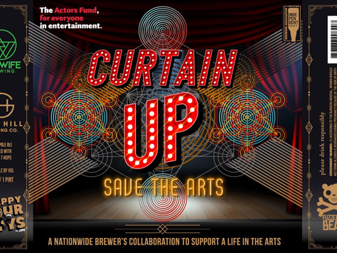 'Curtain Up' A Beer To Help - July 1st @ Alewife Brewing