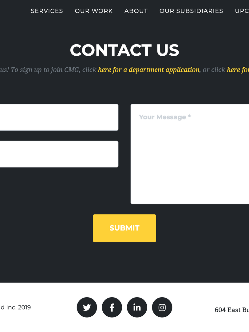 CMG Contact Page