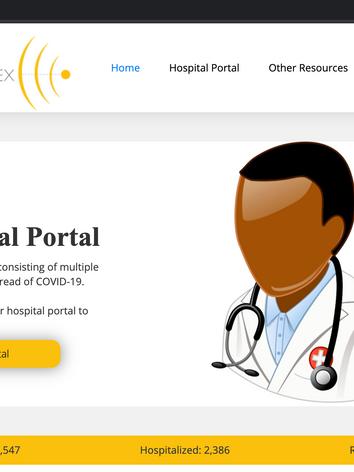 Hospital Portal Advertisement on Vertex Map