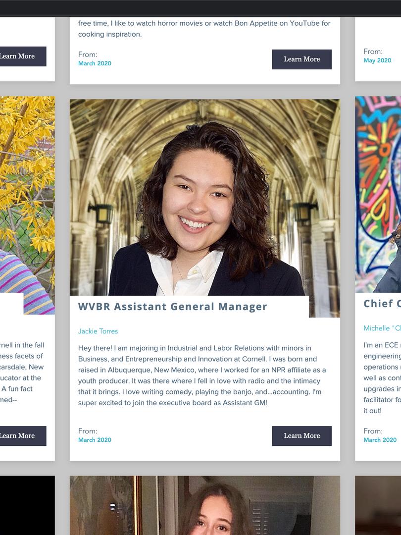Updated Executive Profile Cards - Desktop